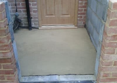 Floor for the porch concreted