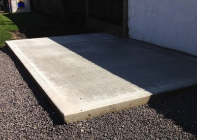 Concrete base ready for the costumers new shed