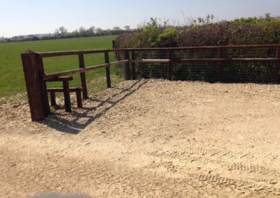 Agricultural fencing, creosote this time