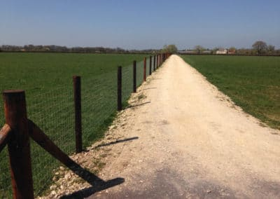 Horse wire creosote fencing