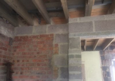 Blockwork and lintels installed