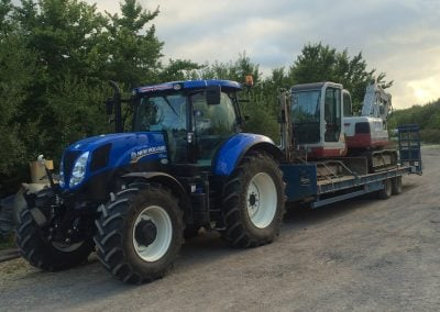 Tractor and low-loader