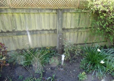 Concrete repair spur for this fence