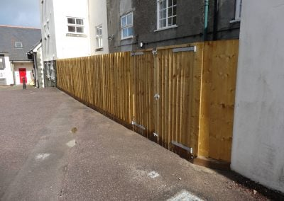 Close board fence with gate made