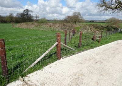 Agricultural creosote fencing