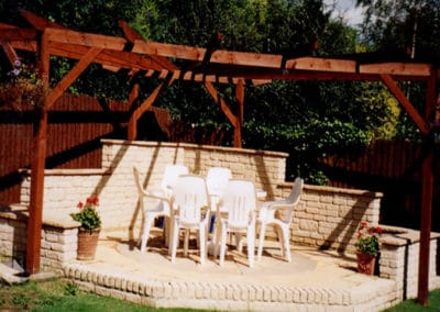 Pergola and patio area built
