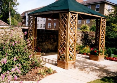 Pergola built and erected