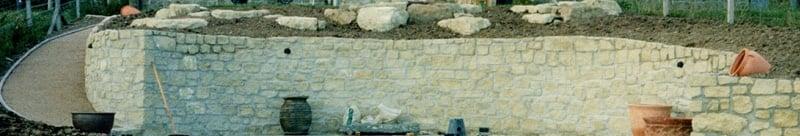 'ha-ha' retaining wall