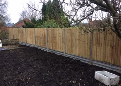 New posts in, new panels and gravel boards in