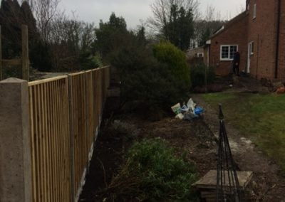 New Posts, Panels and Gravel Board in