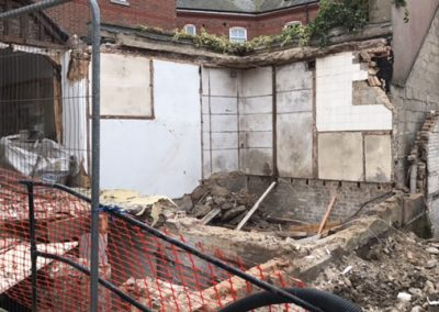 old extension down