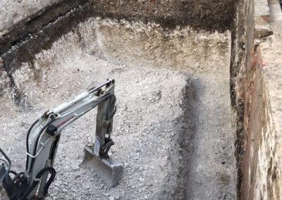 Footings for new cellar dug