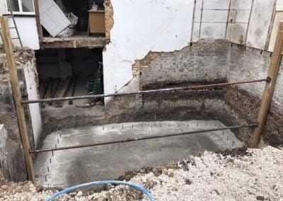 New cellar floor blinding down