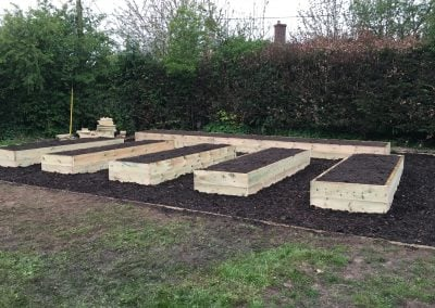 Planting beds complete