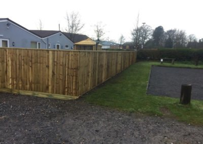 Beer garden close board fence