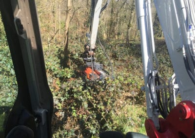 Wood clearance with the diggers topper