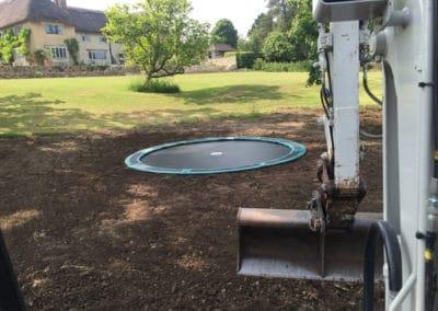 Trampoline installed