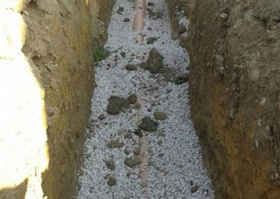Service trench filled