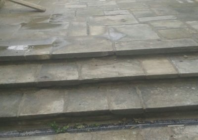 Rustic patio laid as spec