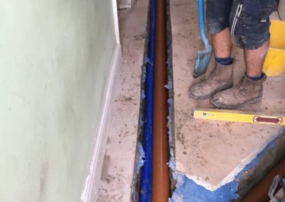 Internal sewage pipes installed