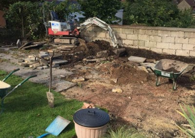 Old patio getting dug out